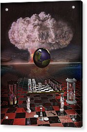 House Of Cards Acrylic Print by ML Walker