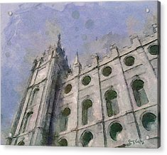 Acrylic Print featuring the painting House Of Faith by Greg Collins