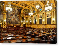 House Of Representatives Chamber In Harrisburg Pa Acrylic Print by Olivier Le Queinec