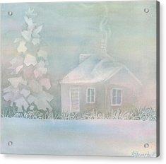 House Of Snow And Fog Acrylic Print