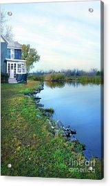 Acrylic Print featuring the photograph House On A Lake by Jill Battaglia