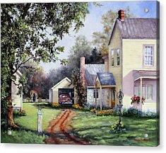 House On Bird Street Acrylic Print