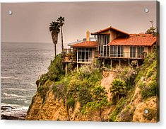 House On Crescent Bay Acrylic Print by Itay Dollinger