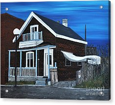 House On Hadley Street Acrylic Print by Reb Frost