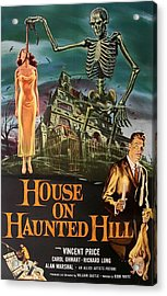House On Haunted Hill 1958 Acrylic Print by Mountain Dreams