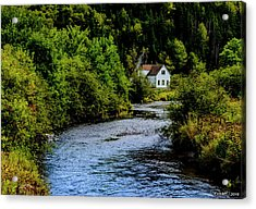 House On Margaree River Acrylic Print by Ken Morris