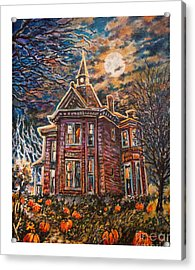 House On Pumpkin Hill Acrylic Print by William Vanya