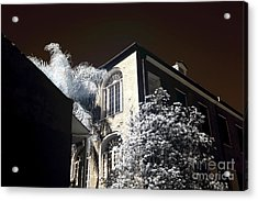 House On The Corner Infrared Acrylic Print by John Rizzuto
