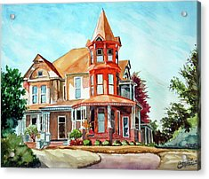 House On The Hill Acrylic Print by Ron Stephens