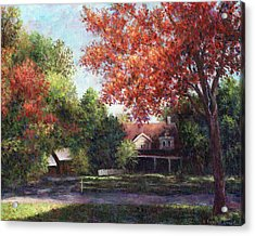 House On The Hill Acrylic Print by Susan Savad