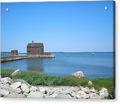 House On The Point Acrylic Print by Valerie Bruno