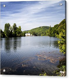 House On The River Bend - South West France Acrylic Print