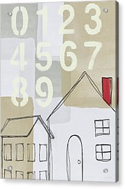House Plans 3- Art By Linda Woods Acrylic Print by Linda Woods