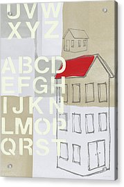 House Plans- Art By Linda Woods Acrylic Print by Linda Woods