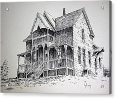 House Virginia City Montana Acrylic Print by Kevin Heaney
