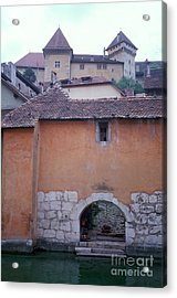 House With Landing Place And Castle At Annecy Acrylic Print