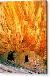 House With The Flaming Roof Acrylic Print