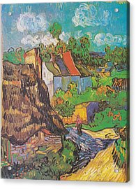 Houses At Auvers Acrylic Print by Vincent Van Gogh