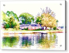 Houses By The Lake 1 Acrylic Print by Lanjee Chee