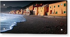 Houses By The Sea Acrylic Print