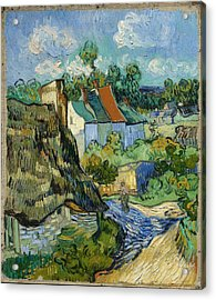 Acrylic Print featuring the painting Houses In Auvers by Van Gogh