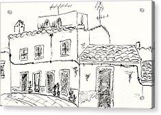 Houses In Elvas Acrylic Print