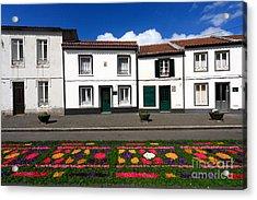 Houses In The Azores Acrylic Print by Gaspar Avila