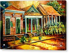 Houses In The Marigny Acrylic Print by Diane Millsap