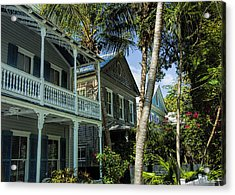 Houses In The Palms  Acrylic Print by Dale Wilson