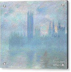Houses Of Parliament  London Acrylic Print by Claude Monet
