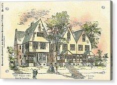 Houses On Locust Street Walnut Hills Cincinnati Ohio 1888 Acrylic Print by SE DesJardins