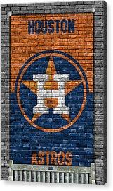 Houston Astros Brick Wall Acrylic Print by Joe Hamilton