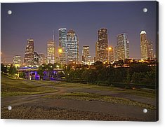 Houston Cityscape1 Acrylic Print