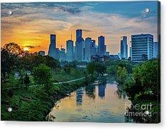 Houston Dawn Acrylic Print by Inge Johnsson