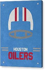 Houston Oilers Vintage Art Acrylic Print