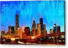 Houston Skyline 102 - Pa Acrylic Print by Leonardo Digenio