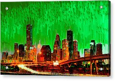 Houston Skyline 115 - Pa Acrylic Print by Leonardo Digenio