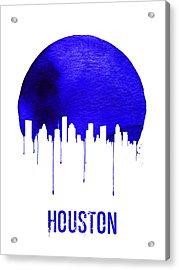 Houston Skyline Blue Acrylic Print