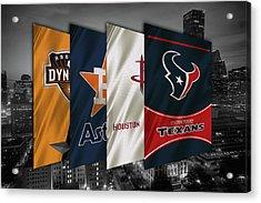 Houston Sports Teams 2 Acrylic Print by Joe Hamilton