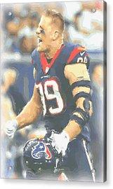 Houston Texans Jj Watt 5 Acrylic Print by Joe Hamilton
