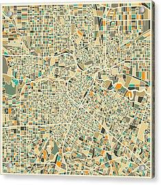 Houston Texas Map Acrylic Print