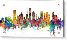 Houston Texas Skyline Panoramic Acrylic Print