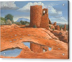 Hovenweep Reflection Acrylic Print by Jerry McElroy