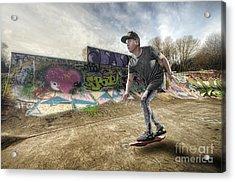Hover Board Acrylic Print by Yhun Suarez