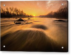 Acrylic Print featuring the photograph Hovering Over The River by Davorin Mance