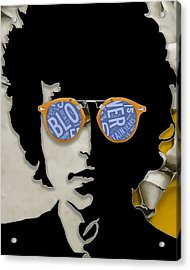 How Many Roads Bob Dylan Acrylic Print