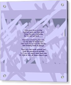 How Now Poem Acrylic Print