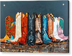 How The West Was Really Won Acrylic Print by Frances Marino