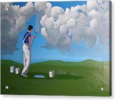How To Paint A Shetland Sky Acrylic Print