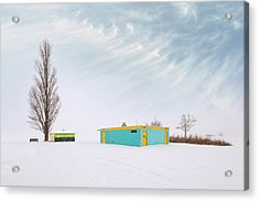 Acrylic Print featuring the photograph How To Wear Bright Colors In The Winter by John Poon